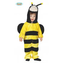 Festivalshop - Bee baby yellow-black striped with hood - FG81011