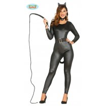 Festivalshop - Black Kitty kat jumpsuit sexy - FG80751