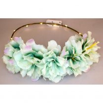 Festivalshop - Floral crown LED peony glow green - AT2122