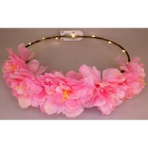 Festivalshop - Floral crown LED peony glow pink - AT2125