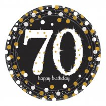 Festivalshop - Borden Happy Birthday Sparkling 70 jaar - AM551964