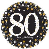 Festivalshop - Borden Happy Birthday Sparkling 80 jaar - AM551965