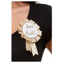 Festivalshop - Brooch rosette bride to be rosegold - SM61016