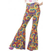Festivalshop - Broek dame multi color tie dye - SM21459