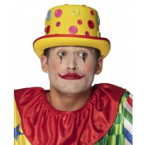 Festivalshop - Yellow hat clown with buttons - BO55514