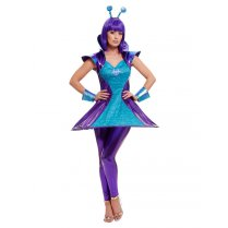 Festivalshop - Alien orphans female purple blue - SM51041