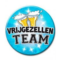 Festivalshop - Button Vrijgezellen Team Blauw Xl - PD7028951