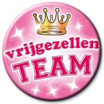 Festivalshop - Button Vrijgezellen Team Roze XL - PD70289