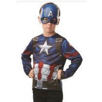 Festivalshop - Captain America set kind masker en top - RF300111