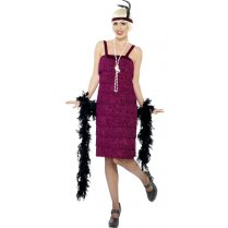 Festivalshop - Charleston jazz dress bordeaux - SM26110