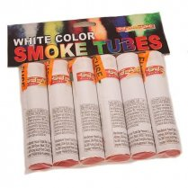 Festivalshop - Color Smoke Tubes 6 stuks Wit - FA54622
