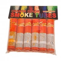 Festivalshop - Color smoke tube 6 stuks oranje - FA54627