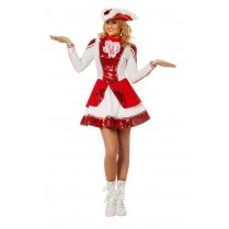Festivalshop - Dance Maroon Red / White with Paillettes - WI4140
