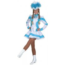 Festivalshop - Dancing girl cheerleader white turquoise - OL9661