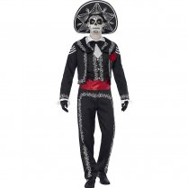 Festivalshop - Day of Dead Senor Bones Mexicaanse Heer - SM43738