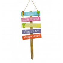 Festivalshop - Decoratie houten sign bord tropical - CH10390