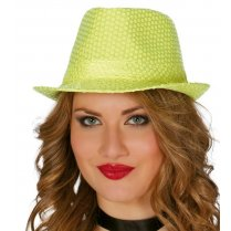 Festivalshop - Dent hat disco yellow sequin - FG13372