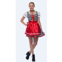 Festivalshop - Dirndl Dress lady black and white large - HH2150