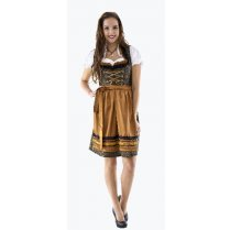 Festivalshop - dirndl dress luxury black and bronze lar - HH2565XX
