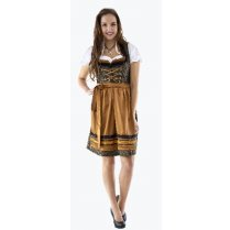 Festivalshop - Dirndl dress luxury black-bronze jaquard - HH2565