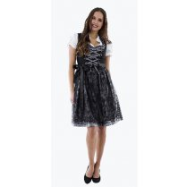 Festivalshop - Dirndl dress luxury black-silver large s - HH2562XX