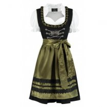 Festivalshop - Dirndl dress black green olive color - HH2522