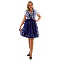 Festivalshop - Dirndl dress dark blue-white checked - HH2450