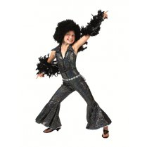 Festivalshop - Disco Jumpsuit kind Zwart - 30/408088
