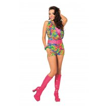 Festivalshop - Disco Playsuit Jumpsuit Multi Kleuren - WI320210