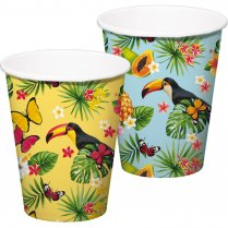 Festivalshop - Drinking cups tropical toucan 350ml - FO20721