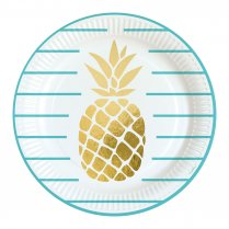 Festivalshop - Assiettes plates Ananas or - AM9903307