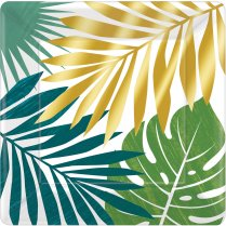Festivalshop - Assiettes Key West avec feuilles de palm - AM592283