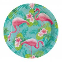 Festivalshop - Assiettes plates Summer flamingo paradis - AM9903325
