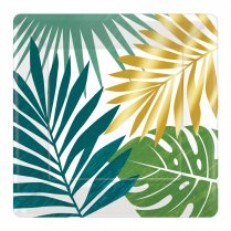 Festivalshop - Dinner plates Key West with palm leaves - AM542283