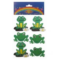 Festivalshop - Foam Stickers frogs per 6 assorties - PX14536