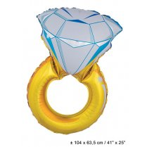 Festivalshop - Folieballon Diamanten Ring - 84/84915