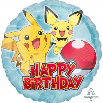 Festivalshop - Folieballon Pokemon Happy Birthday 45cm - AM3633301