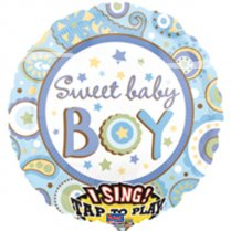 Festivalshop - Folieballon Singing Sweet Baby Boy - FO22069