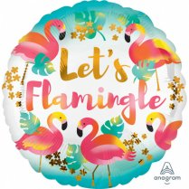 Festivalshop - Ballon aluminium flamingo Lets Flamingle - AM3712101
