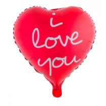 Festivalshop - Folieballon hart I Love You - 85/85133