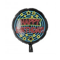 Festivalshop - Folieballon neon happy birthday - PD7013113