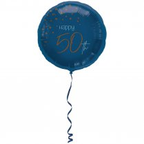 Festivalshop - Folieballon transparant true blue 50 j - FO66750