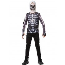 Festivalshop - Fortnite Skull Trooper tiener top en kap - RF300208