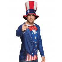 Festivalshop - Fotorealistisch T Shirt Uncle Sam USA - BO84377