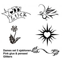 Festivalshop - Glitter Tattoo Set Dames Compleet 20 - MC14110