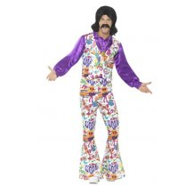 Festivalshop - Groovy Hippie Costume Multi Coloured - SM44904