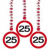 Festivalshop - Hanging decoration Road sign 25 Years - FO05124