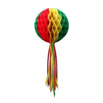 Festivalshop - Hanging decoration bulb red yellow green - PX94855