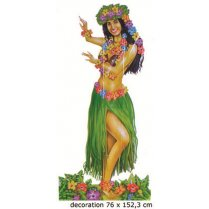 Festivalshop - Hawaii Luau Deco Dancing girl 152cm - 84/84325