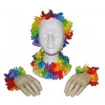 Festivalshop - Hawaii Set Gebloemd Multi 4-delig - 60/60329